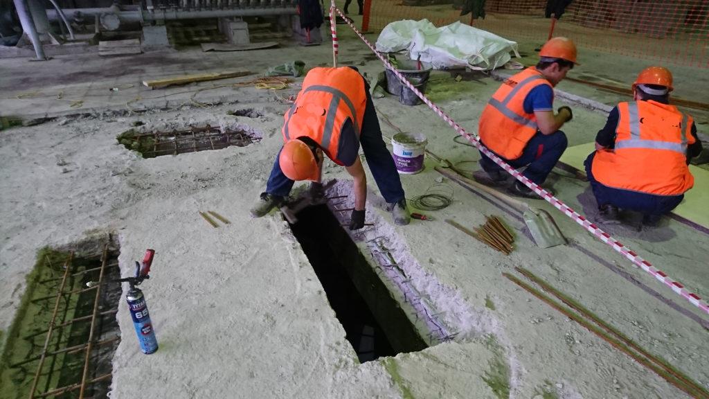 Ремонт бетонных перекрытий