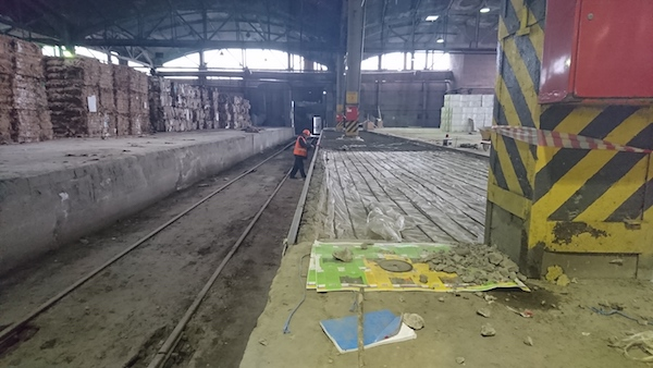 Устройство железнодорожной рампы в здании