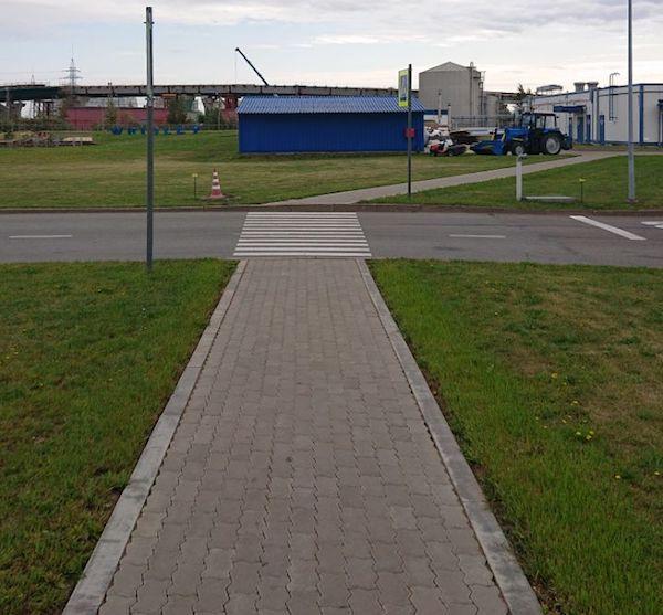 Устройство пешеходной дорожки компанией Спайдор