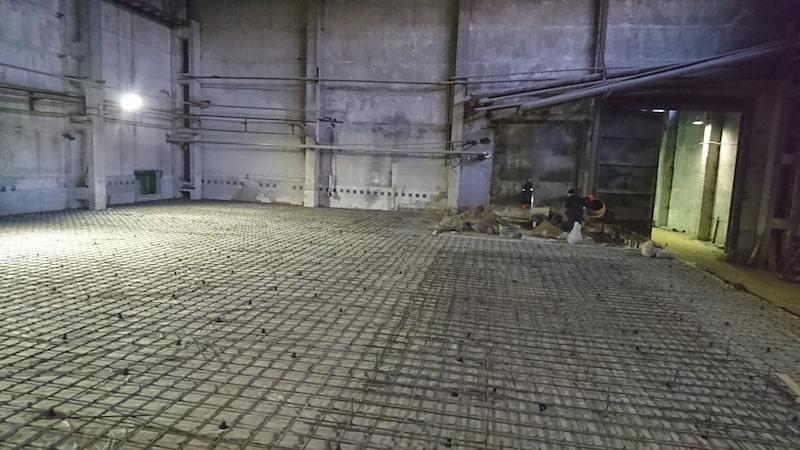 Установка бетонных полов
