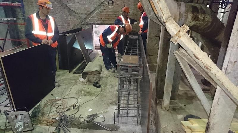 Установка бетонных полов на промышленном объекте